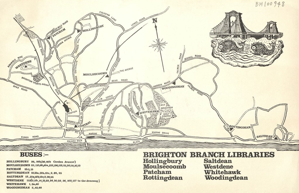 Map showing Brighton branch libraries